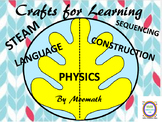 Crafts for Learning STEAM Hanging Leaf Spinners