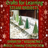 STEAM Crafts for Learning Christmas Symmetry, Sequence, Co