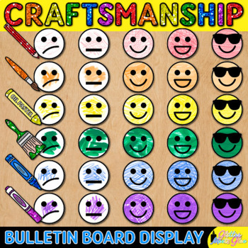 Craftsmanship Rubric for Visual Arts: Bulletin Board For Elementary Art Rooms