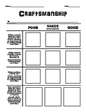 Craftsmanship Worksheet