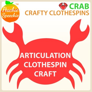 Crafty Clothespins : Articulation Crab