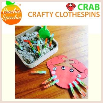 Crafty Clothespins : Articulation Crab