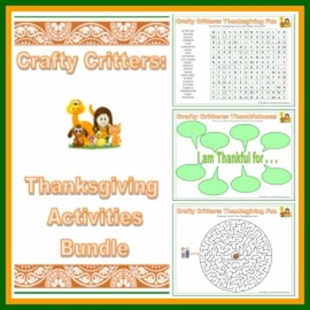 Crafty Critters: Thanksgiving Activities Bundle