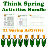Crafty Critters: Think Spring Activities Bundle