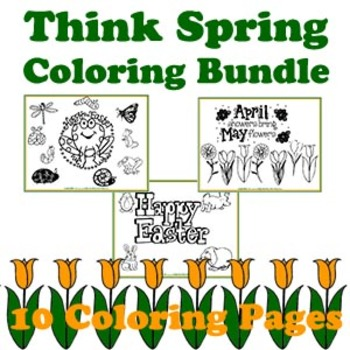 Crafty Critters: Think Spring Coloring Bundle