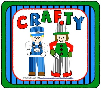 Crafty - Engineer, Elf, and Leprechaun Craftivity