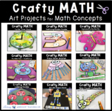 Crafty Math Bundle 1 - Nine Simple No Prep Math Crafts