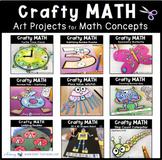Crafty Math Bundle 1 - Nine Simple First Grade Math Crafts