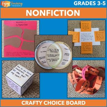 Crafty Nonfiction Choice Board Freebie