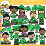 Crafty St. Patrick's Day Kids Clip Art
