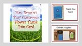 Crafty Task Lists - Flower Thank You Card