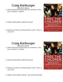 Craig Kielburger Reflects on Working Towards Peace Mini Quiz