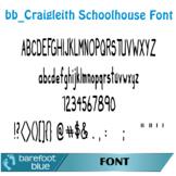 Craigleith Schoolhouse Font, Handdrawn Kid-Style Display Open Type Font OTF