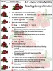Cranberry Activities: All About Cranberries Activity Packet - Color Version
