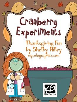 Cranberry Experiments- Thanksgiving Fun
