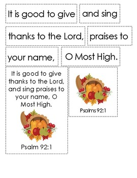 Cranberry Thanksgiving Bible Verse Printable (Psalm 92:1)
