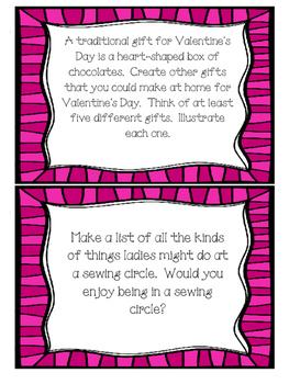 Cranberry Valentine Task Cards