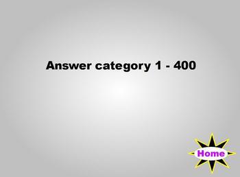 Jeopardy - Cranium Challenge Template