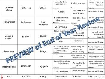 Cranium Review - Realidades I, Chapter 7B