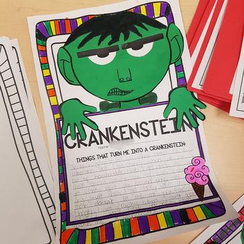 Crankenstein Creative Writing Art Activity Craftivity