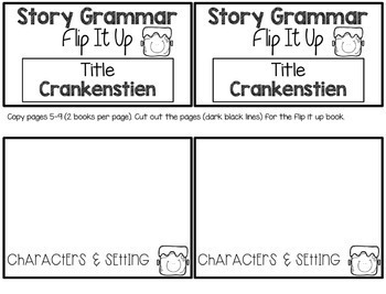 Crankenstein Book Companion:  Speech Language and Literacy