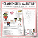Crankenstein Valentine Activities Berger Crossword Puzzle