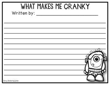 Crankenstein Writing FREEBIE