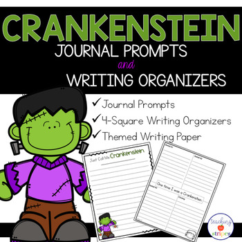 Crankenstein Writing Organizers, Publishing Papers, and Journal Prompts