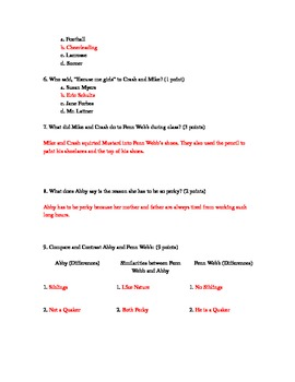 Crash By: Jerry Spinelli Quiz for Chapters 11-15