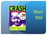 Crash By Jerry Spinelli, Word Wall