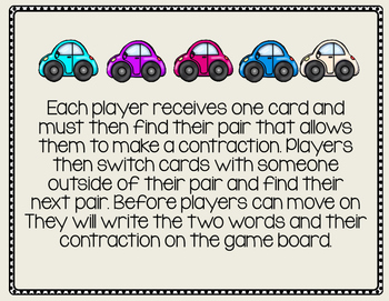 Crash & Contract Contractions Game