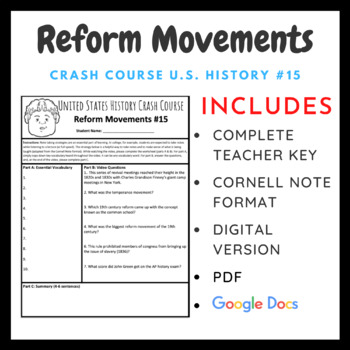Crash Course U.S. History: 19th Century Reforms #15