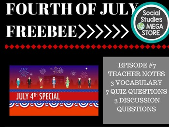 Crash Course 4th of July FREEBEE