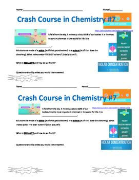 Crash Course in Chemistry 7 Water and Solutions