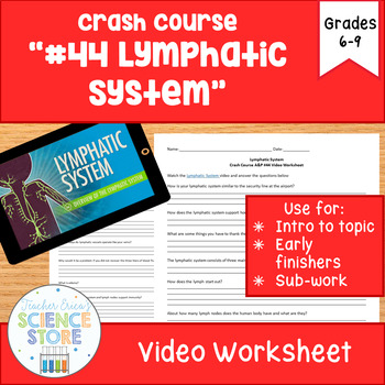 Crash Course- A&P: #44 The Lymphatic System Video Worksheet