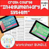 Crash Course- A&P: Integumentary System Video Worksheet- BUNDLE!