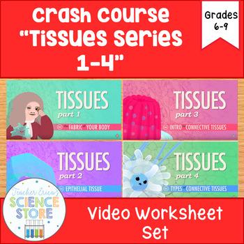 Crash Course- A&P: Tissues Video Worksheet- BUNDLE!