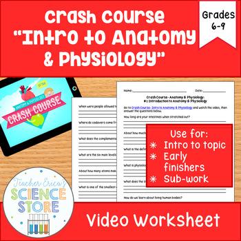 Crash Course Anatomy Phys 1 Intro To Ap Video Worksheet Tpt