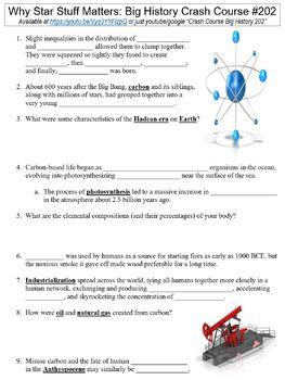 Crash Course Big History #202 (Why Star Stuff Matters) worksheet