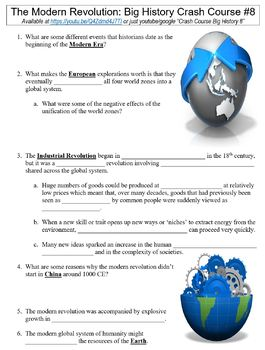 Crash Course Big History #8 (The Modern Revolution) worksheet