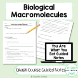 Crash Course Biological Molecules Macromolecules Guided No