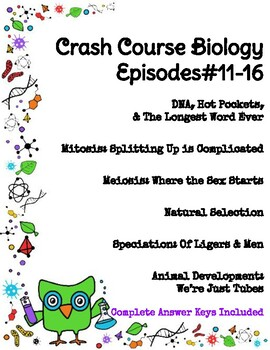 Crash Course Biology #11-16 (Meiosis, Mitosis, Speciation, Natural Selection)
