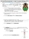 Crash Course Biology #16 (Animal Development) worksheet