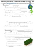 Crash Course Biology #8 (Photosynthesis) worksheet