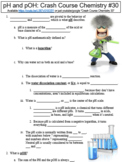 Crash Course Chemistry #30 (pH and pOH) worksheet