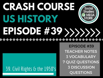 Crash Course Civil Rights and 1950's Ep. 39