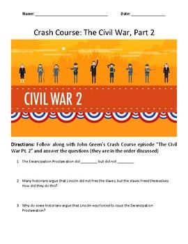 Crash Course Civil War Pt. 2 Video Questions
