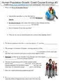 Crash Course Ecology #3 (Human Population Growth) worksheet