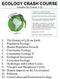 Crash Course Ecology Worksheets Complete Series Set Full Bundle Collection
