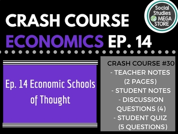 Crash Course Economic Schools of Thought Ep. 14